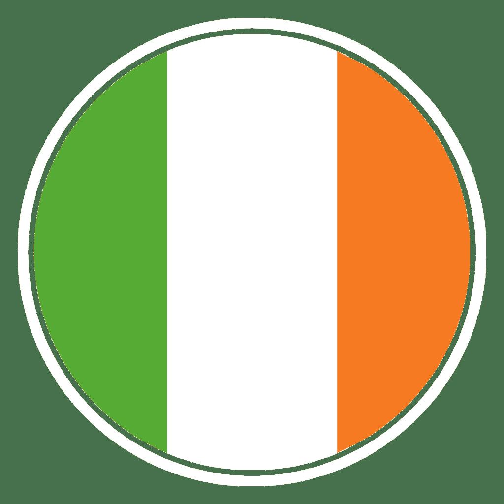 Irish Flag in circle