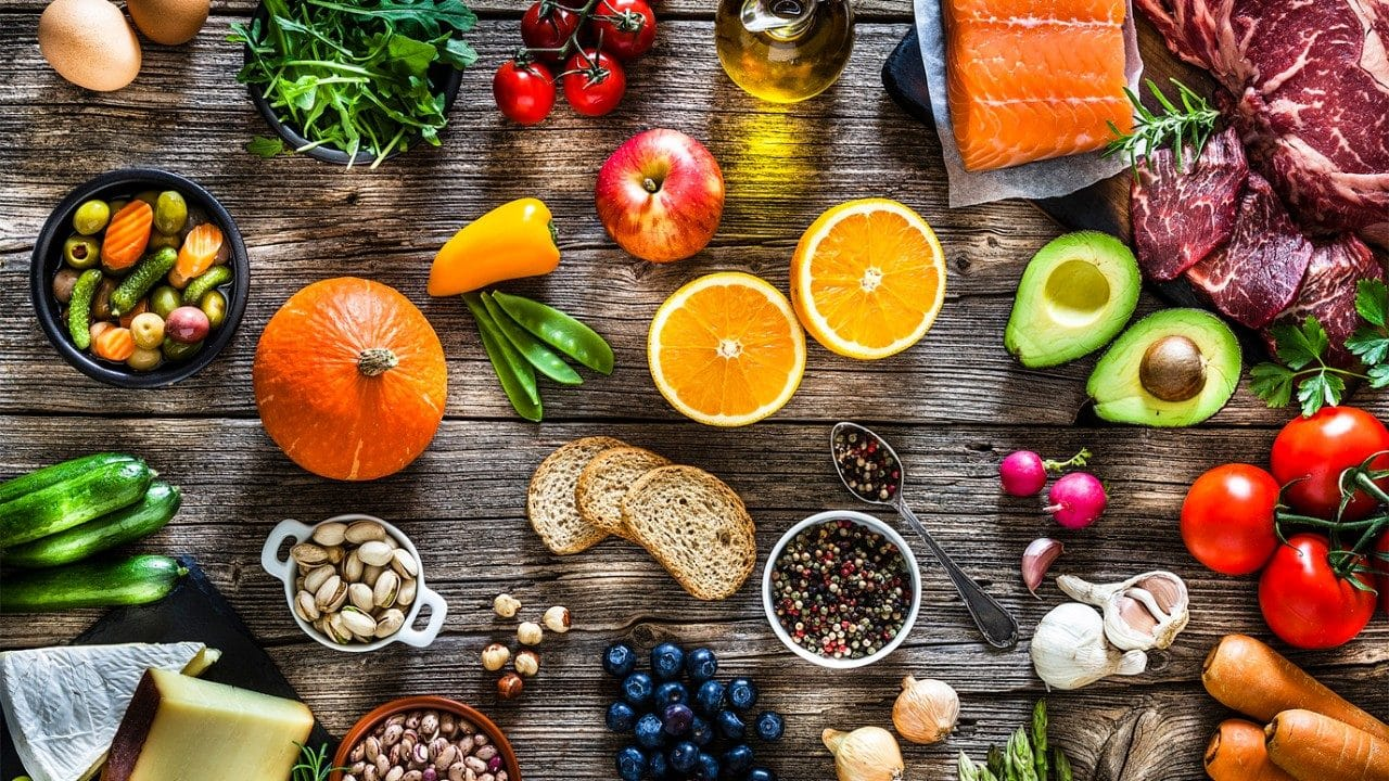 Examples of food in a balanced diet