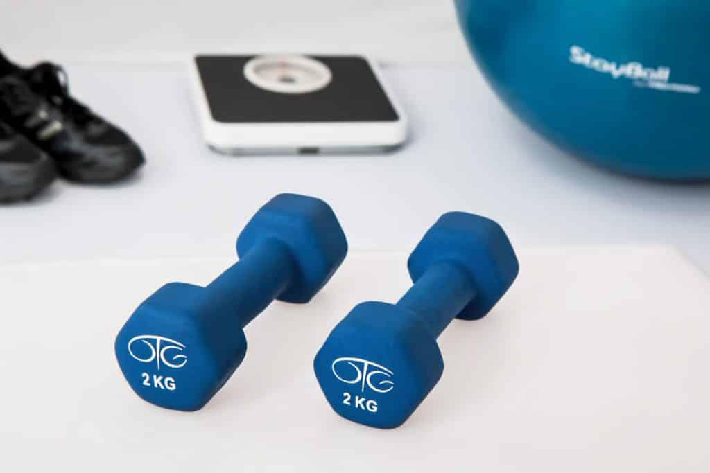 2kg blue weights